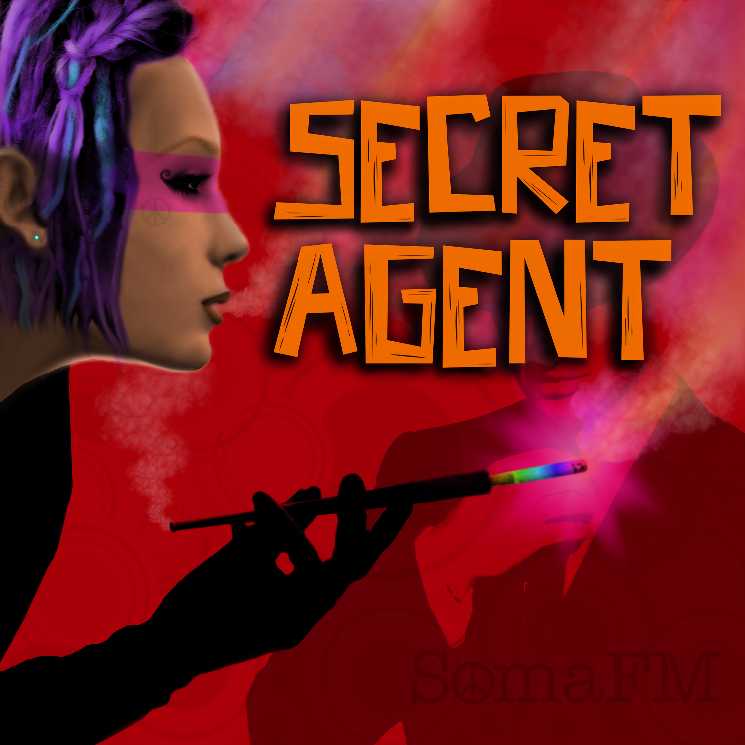"Graphic submitted for consideration to San Franciso streaming radio station, SomaFM, for their station ""Secret Agent"""