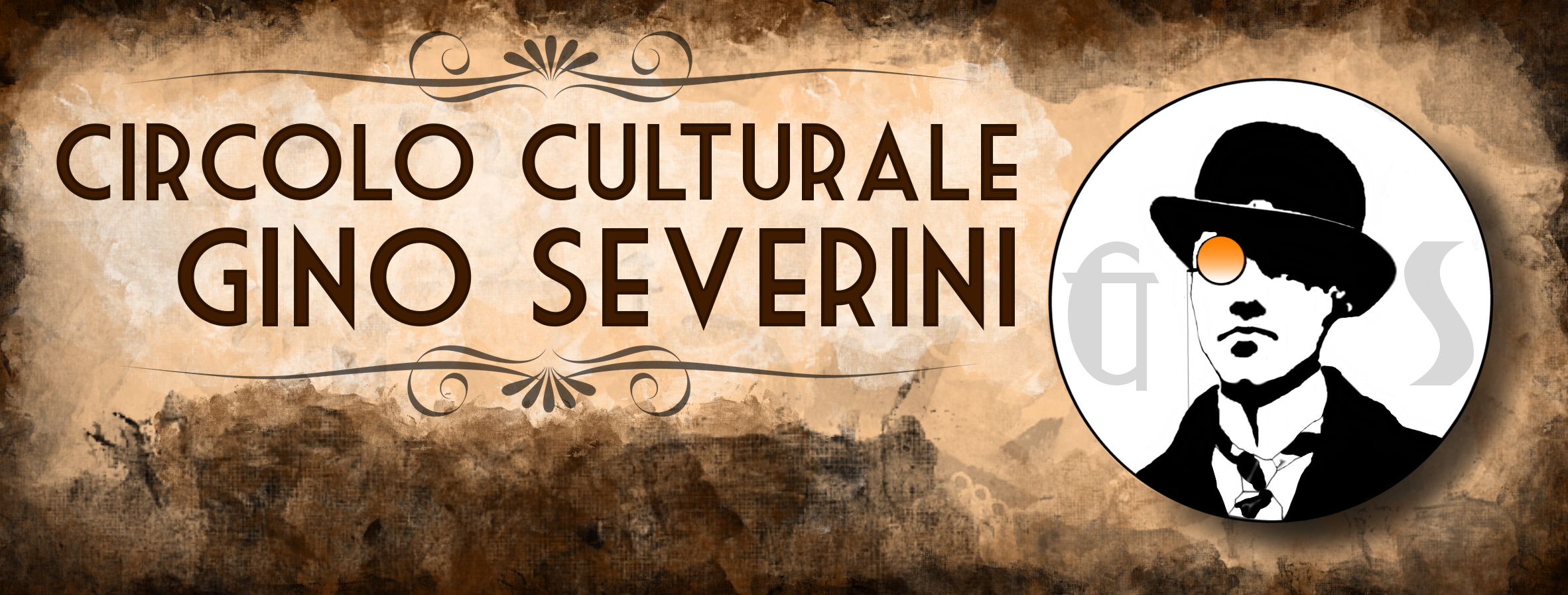 Facebook banner for the Circolo Culturale Gino Severini, Cortona, Italy
