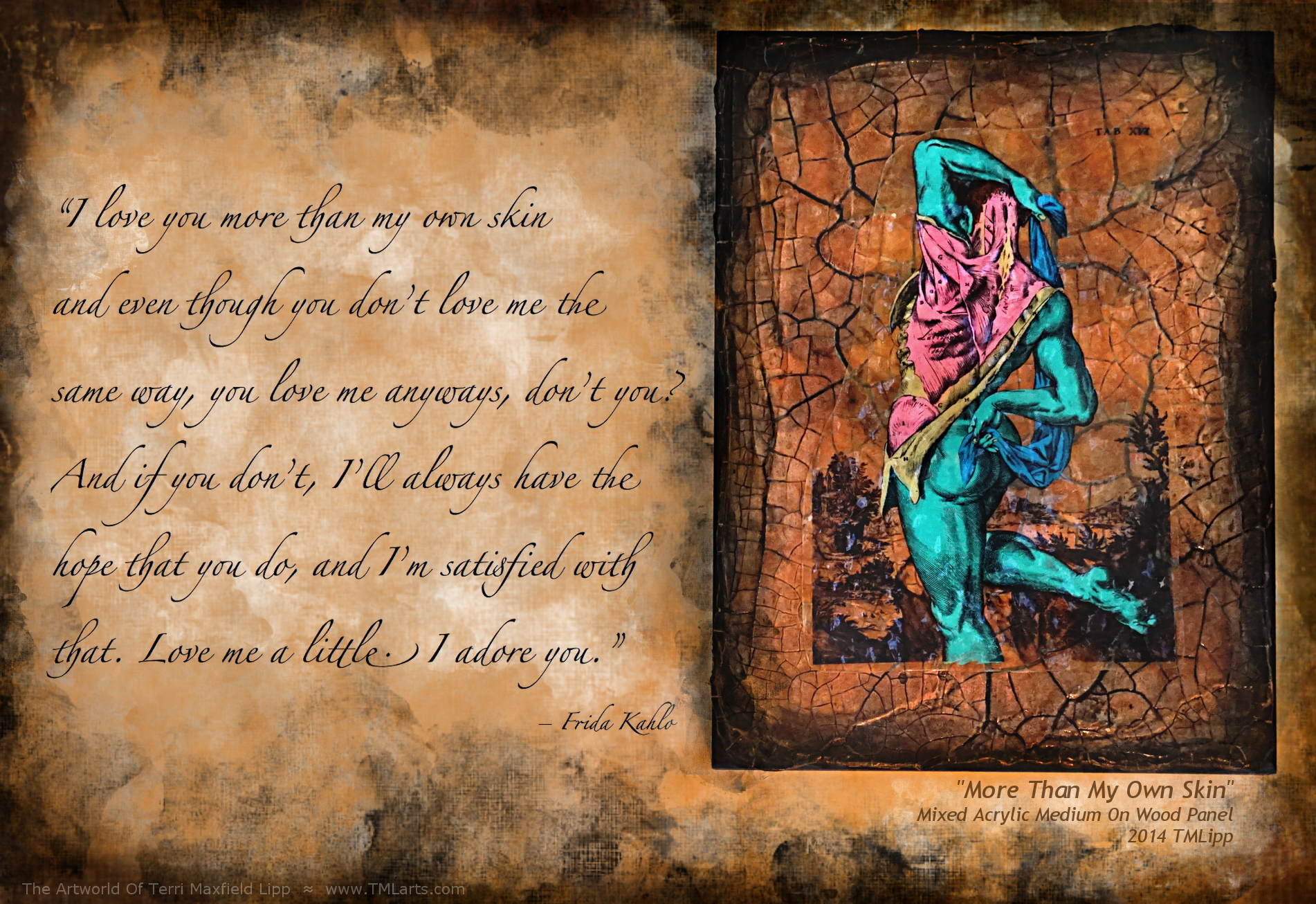 Artist Quote meme - quote by Frida Kahlo, Skelly-Gel art by TMLipp