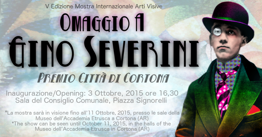 "Advertising image for the art exhibition ""Omaggio A Gino Severini"" - for the Circolo Culturale Gino Severini, Cortona, Italy"