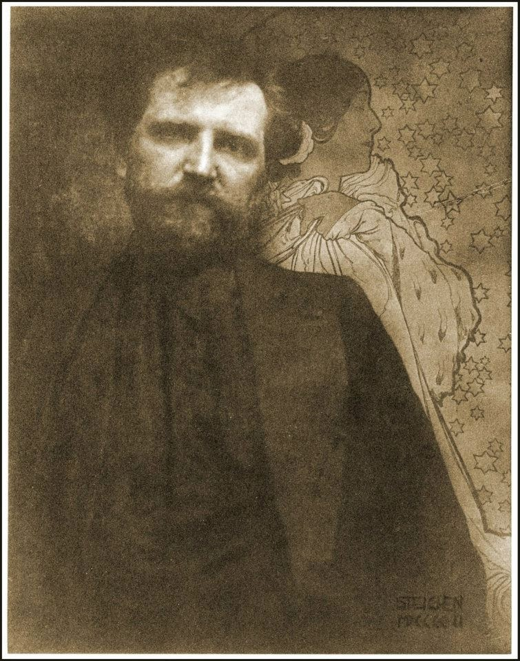 The artist Alphonse Mucha, as photographed by Edward Steichen, c. 1895