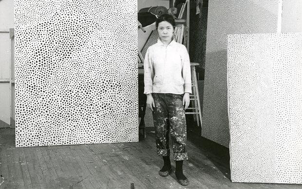 Yayoi Kusama in her New York studio, 1961
