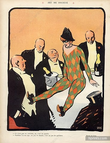 "1910 illustration for ""Le Rire,"" by Juan Gris"