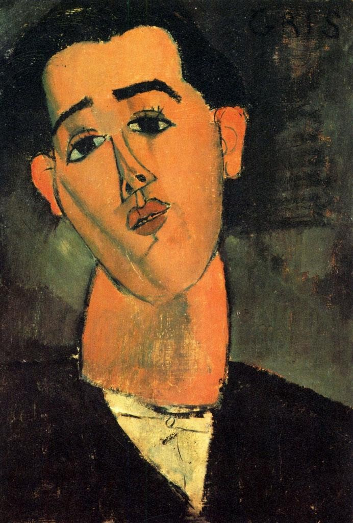 In 1915 Gris was painted by his friend, Amedeo Modigliani.