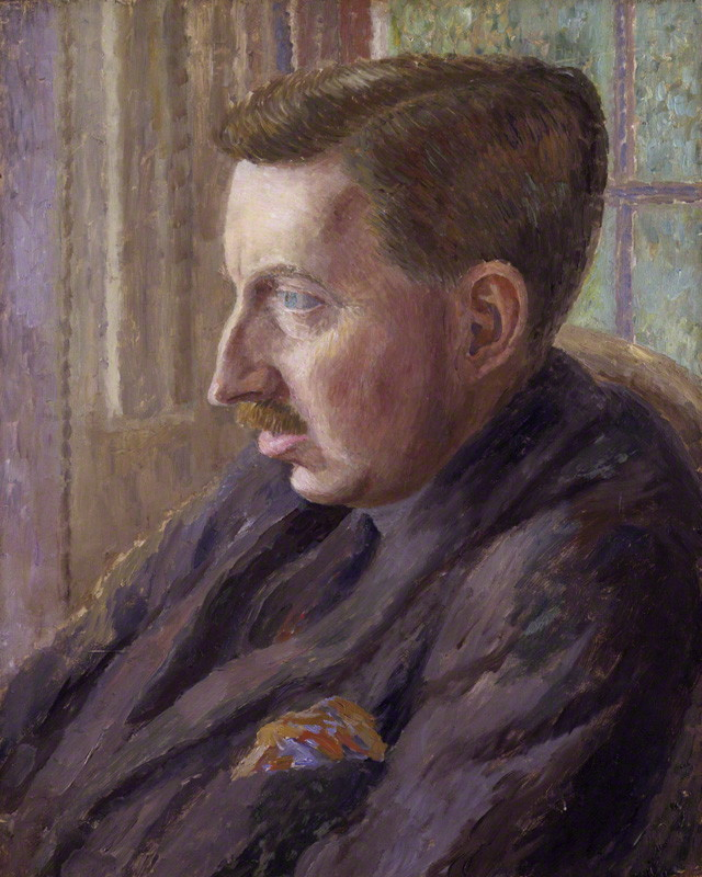 Portrait of E.M. Forster, 1924, Carrington