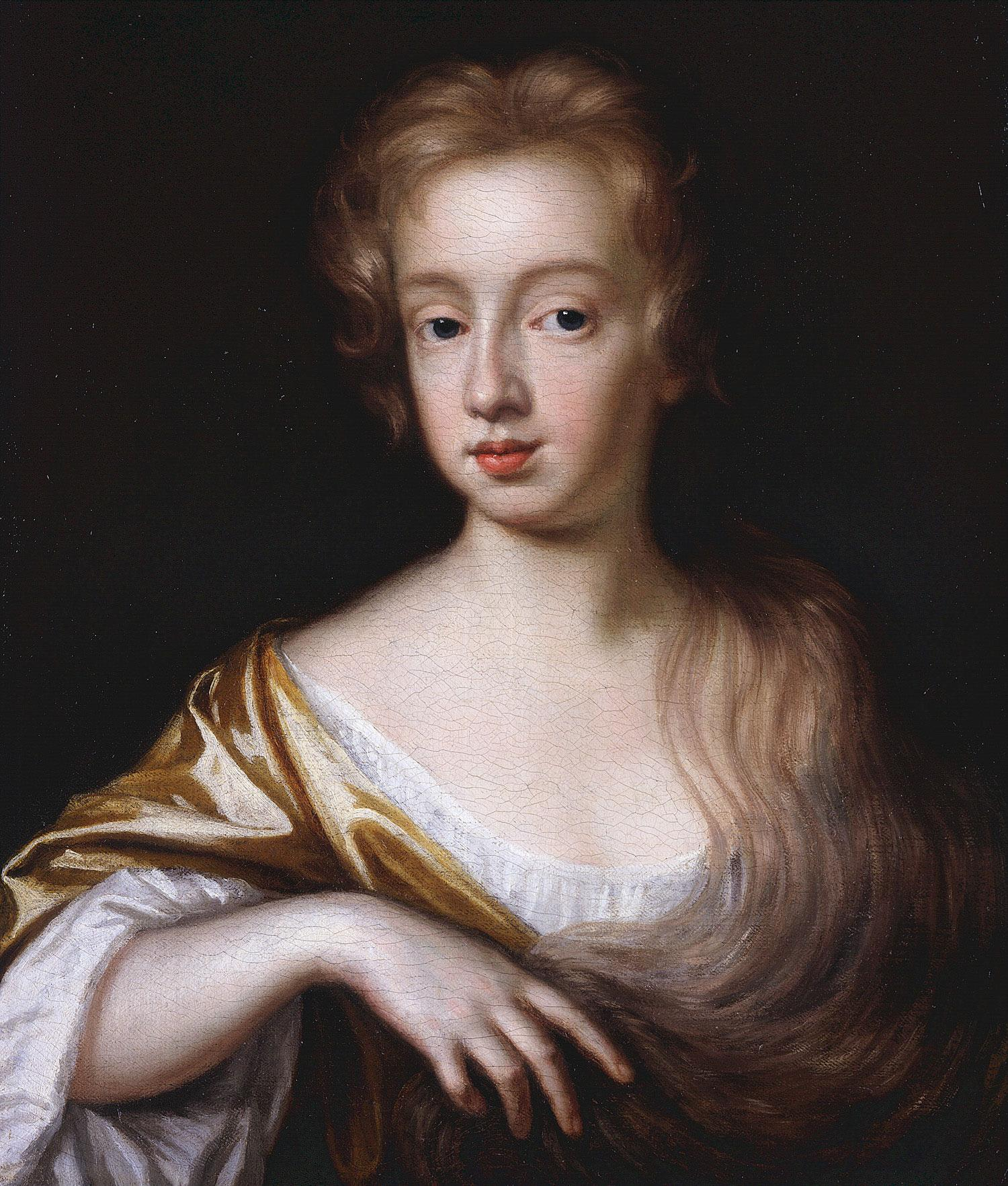 Portrait of unknown young girl, c. 1680, by Mary Beale