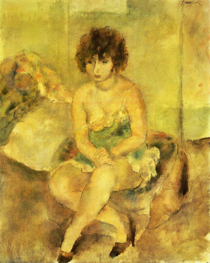 """Portrait of Lucy Krohg,"" 1925 by Pascin after his return to France and his relationship with Lucy was reignited."