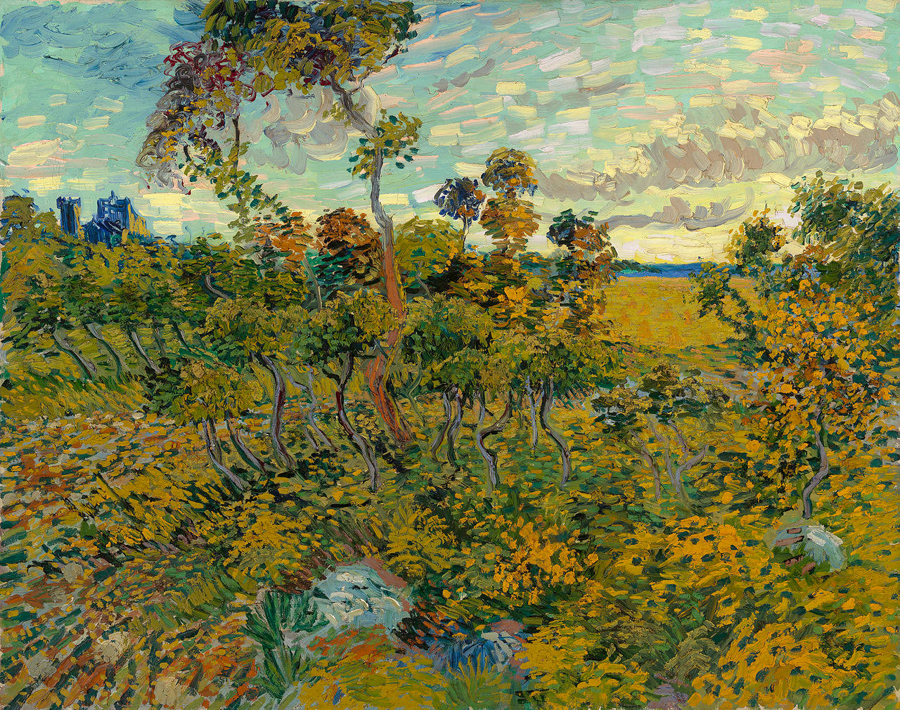 """Sunset At Montmajour,"" a previously unknown work by Vincent van Gogh, brought to light in ."