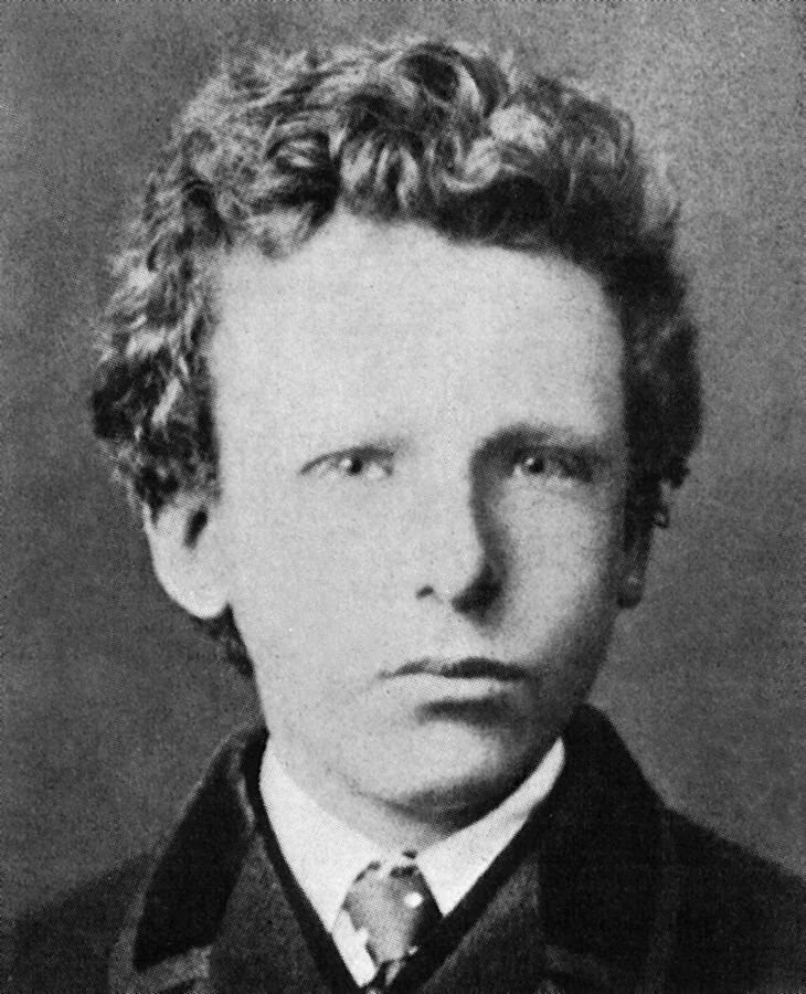 Vincent Van Gogh at the age of 13, in 1866