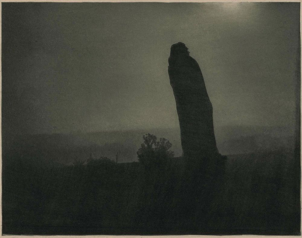 Image of Balzac at midnight, by Edward Steichen, 1908
