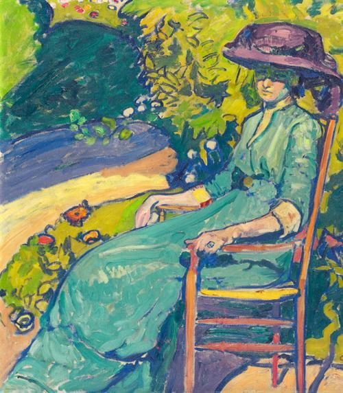 Junge Frau Im Garten (Amy Moser), 1910 by Cuno Amiet
