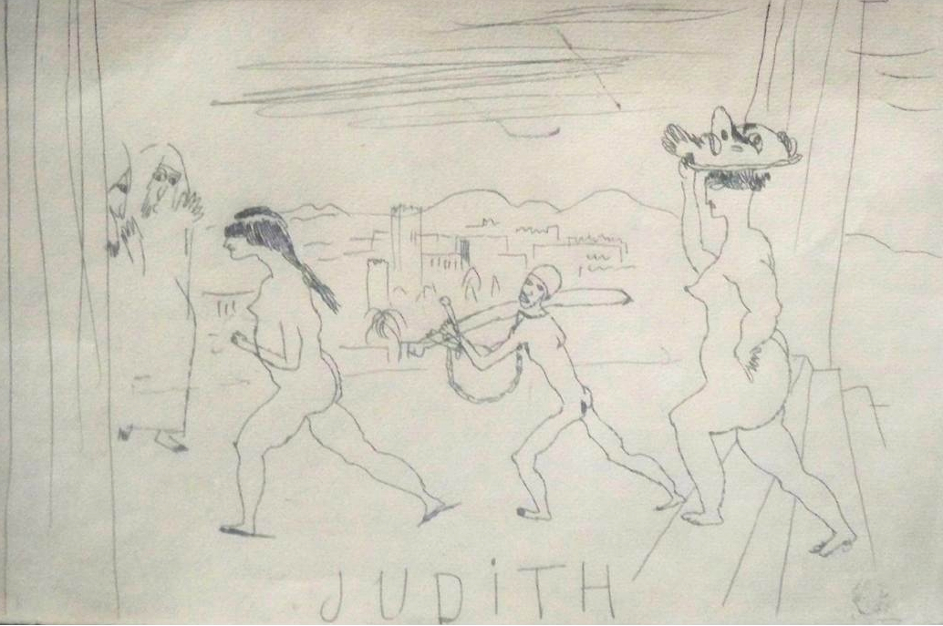 Early drawing by Pascin of a brothel scene. (Untitled and no date available)