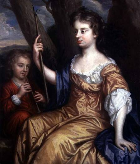 """Self Portrait of the Artist as a Shepherdess with her Son Charles,"" by Mary Beale, 1665"