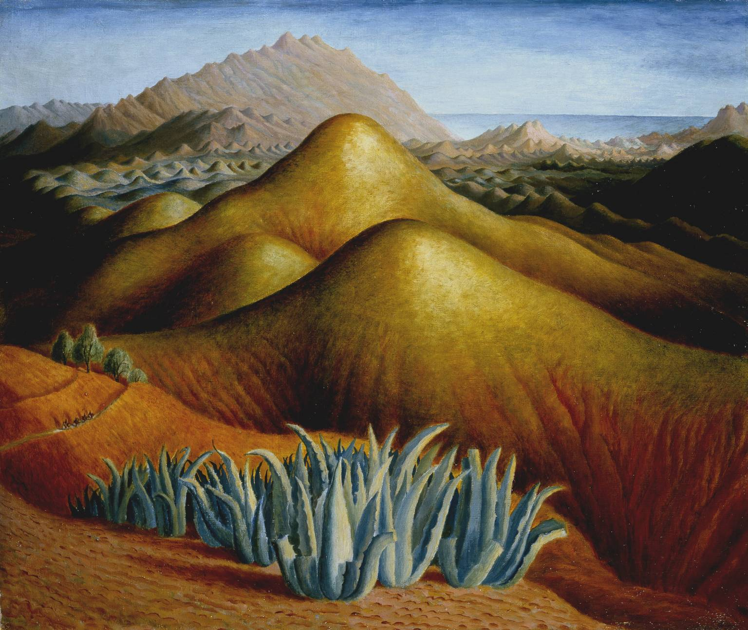 Spanish Landscape with Mountains, by Carrington, c. 1924