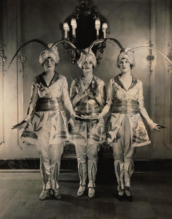 Exotic costumes, by Edward Steichen, c. 1920