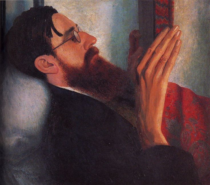 Portrait of Lytton Strachey, by Carrington, 1916