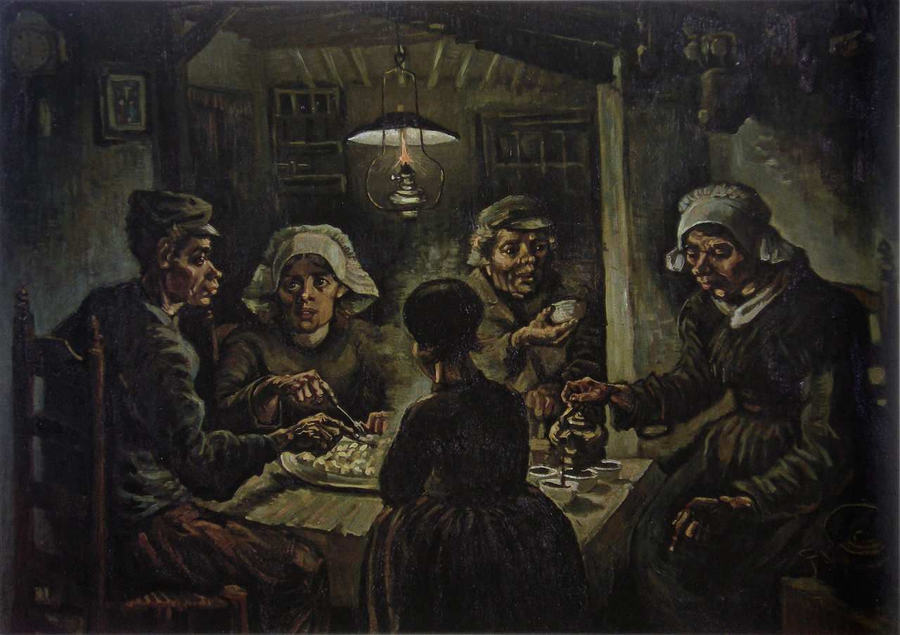 The Potato Eaters, by Vincent van Gogh, 1885