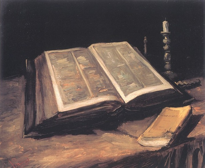 Still Life With Bible, by Vincent Van Gogh, 1885