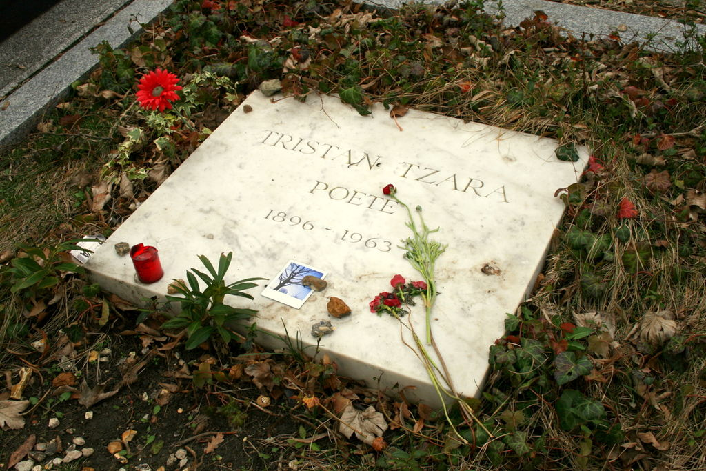 Gravesite of poet, performer and architect of the Dada movement, Tristian Tzara