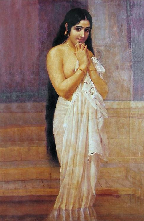 """A Lady Fresh From Her Bath,"" by Raja Ravi Varma, 189"