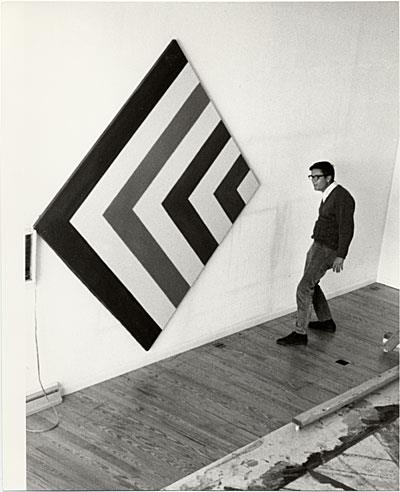 Kenneth Noland, in his studio, 1968