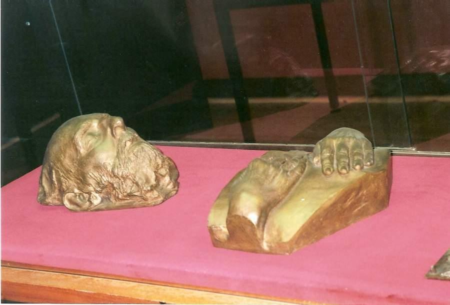 Plaster death mask of James Ensor