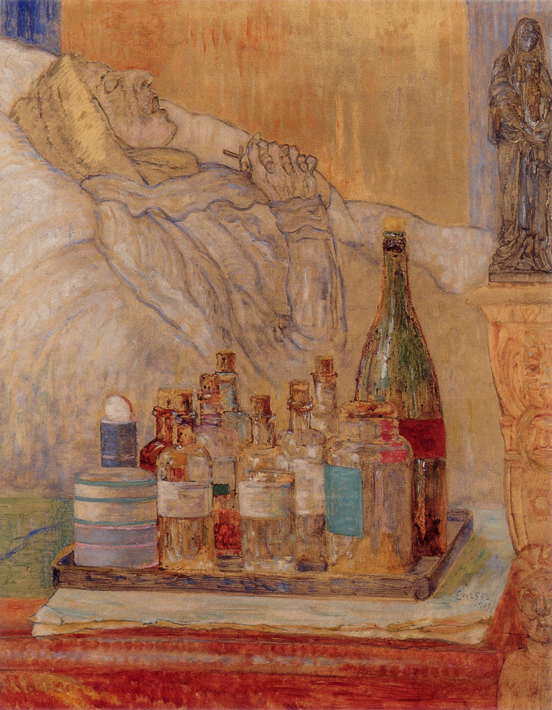 """The Artist's Mother In Death,"" by James Ensor, 19"