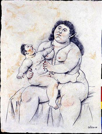 """Maternity,"" by Fernando Botero, 2003"