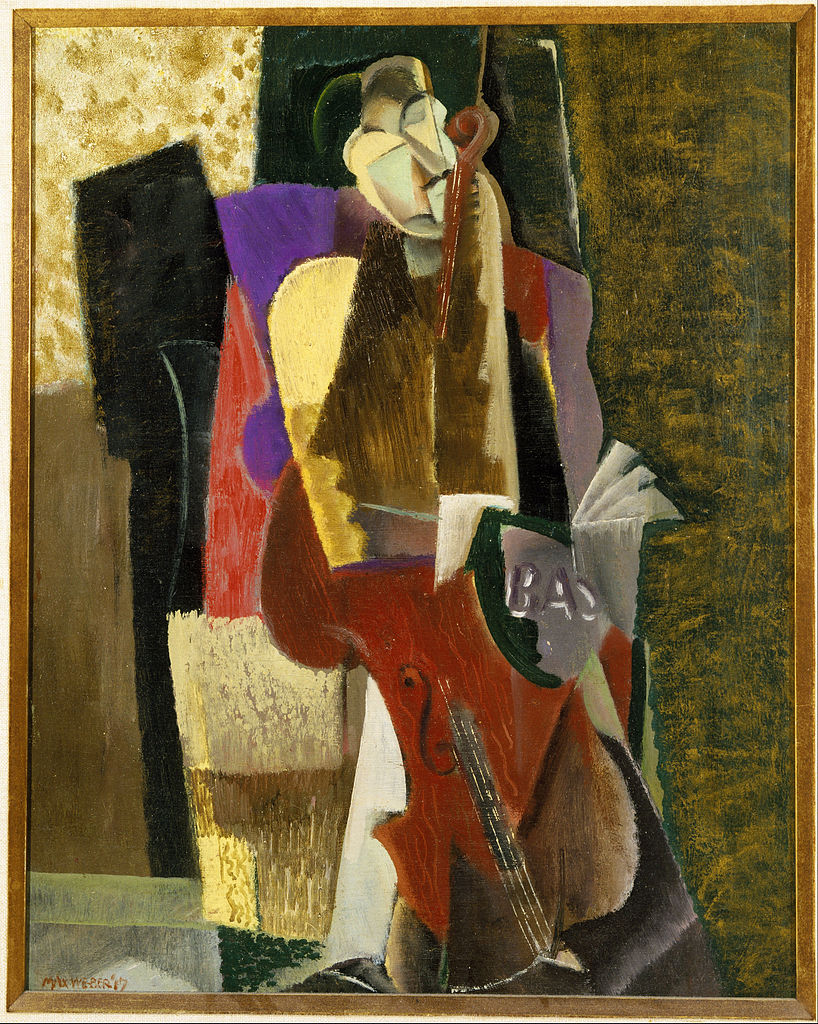 """The Cellist,"" by Max Weber, 1917"