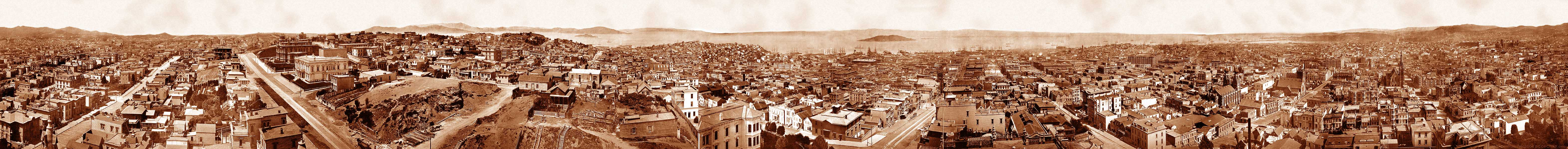 Panorama of San Francisco, Eadweard Muybridge, 197