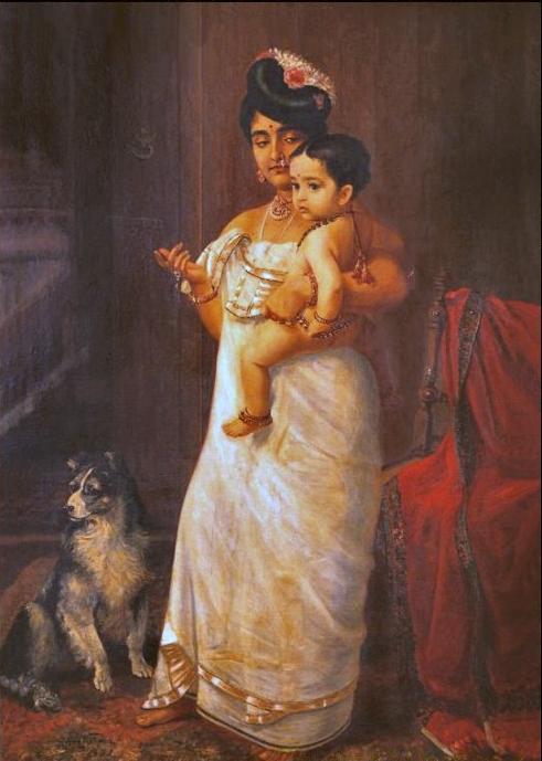 Raja_Ravi_Varma,_There_Comes_Papa_(1893)