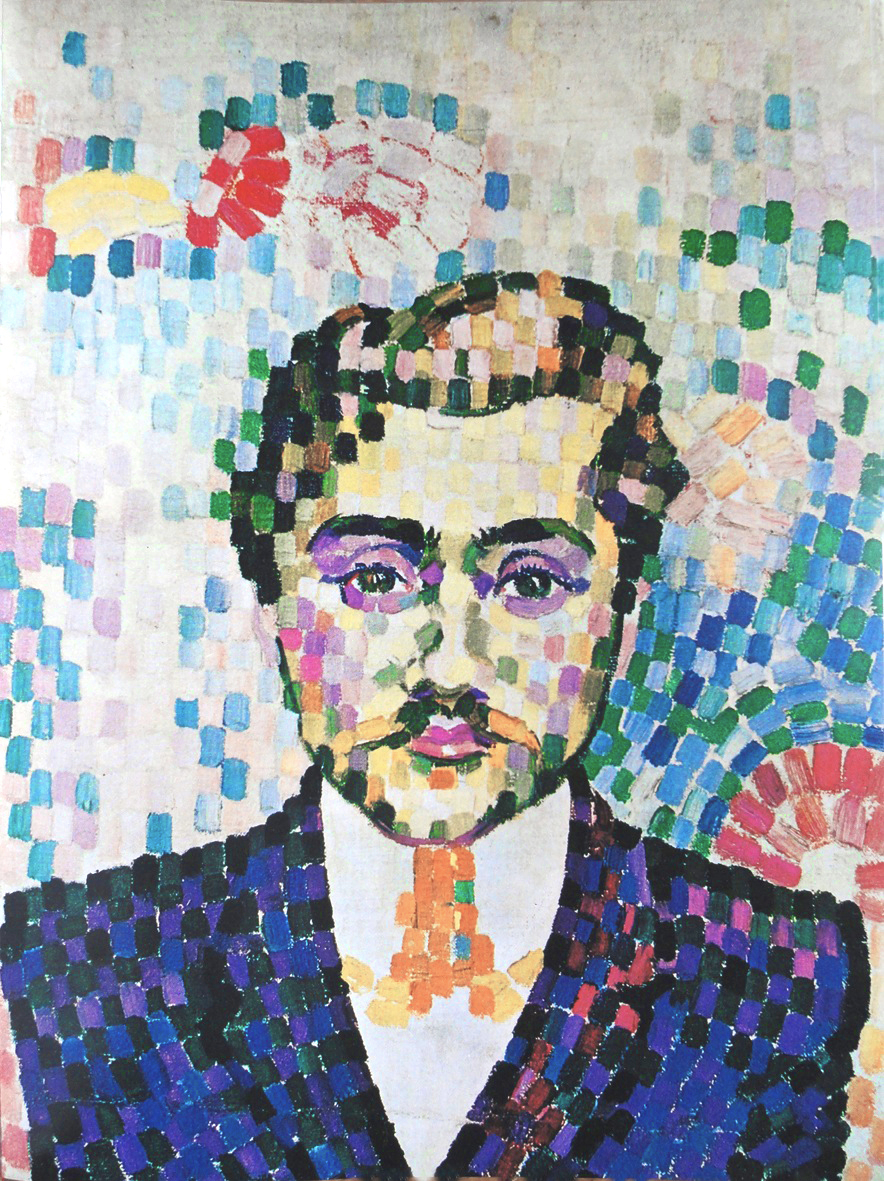 """Portrait of Jean Metzger"" by Robert Delaunay, 1906"