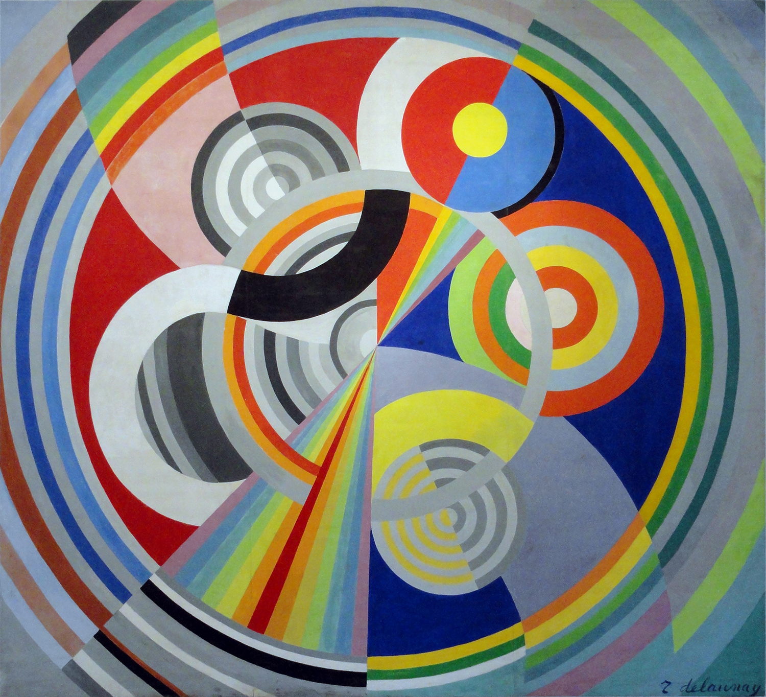 """Rythme No. 1"" by Robert Delaunay, 1938"