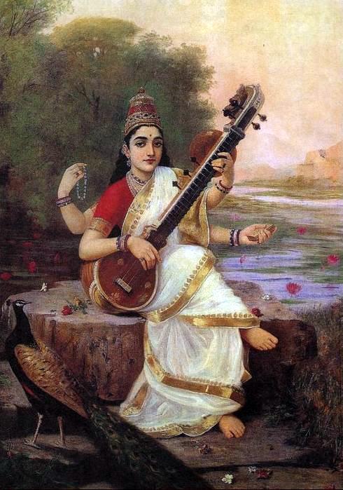 """""""Saraswati,"""" by R, 1896"""