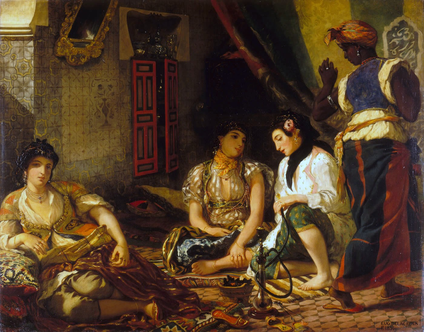 """Women Of Algiers In Their Apartment,"" by Eugène Delacroix, 1842"