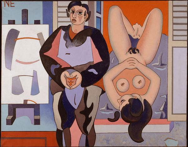 """Á rebours,"" by Jean Hélion, 1947"