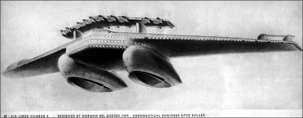 Airliner #4 by Norman Bel Geddes, 1929