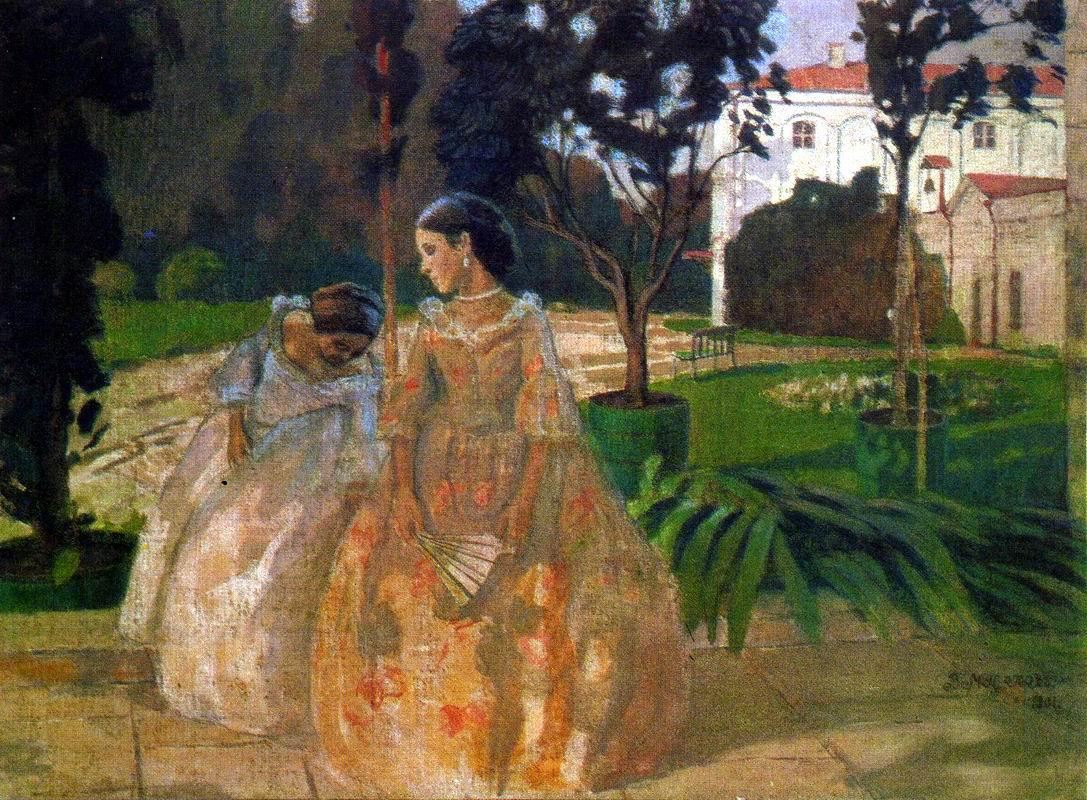 """""""Tapestry,"""" by Victor Borisov-Musatov, 1901"""