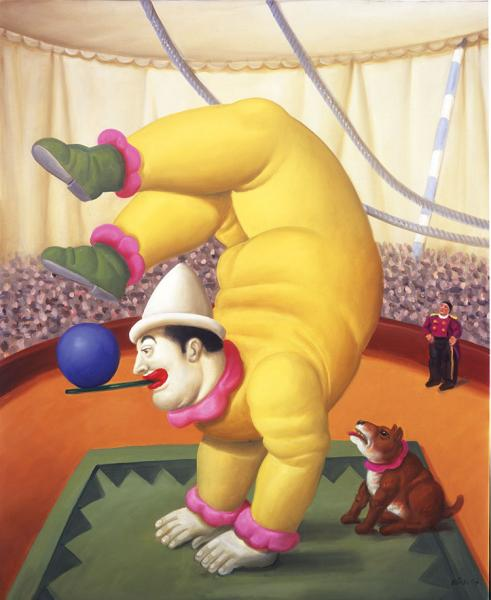 "From ""The Circus"" series by Fernando Botero"