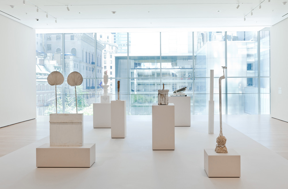 Exhibition of some of Twombly's white sculptures - MOMA, NY, 2011