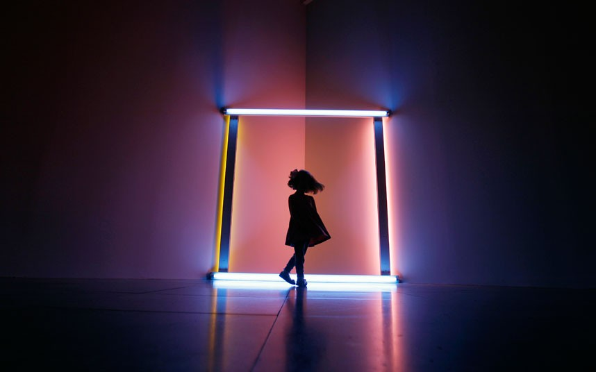 dan-flavin from the exhibition %22wish you were here%22