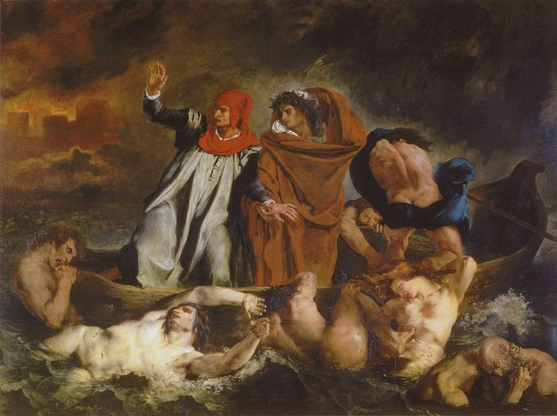 """Dante and Virgil in Hell,"" by Eugène Delacroix, 18"