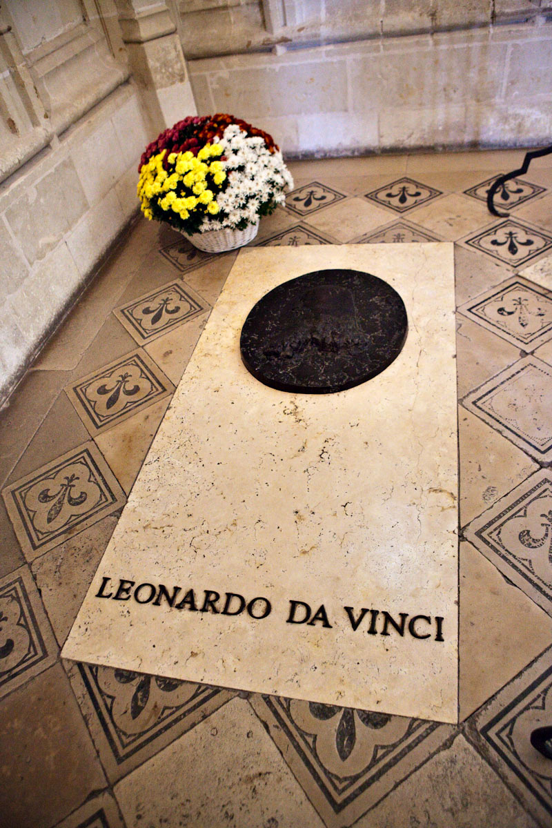 The gravesite of Leonardo da Vinci,