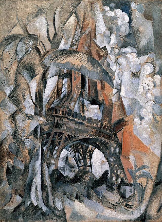 """Eiffel Tower With Trees"" by Robert Delaunay, 1910"