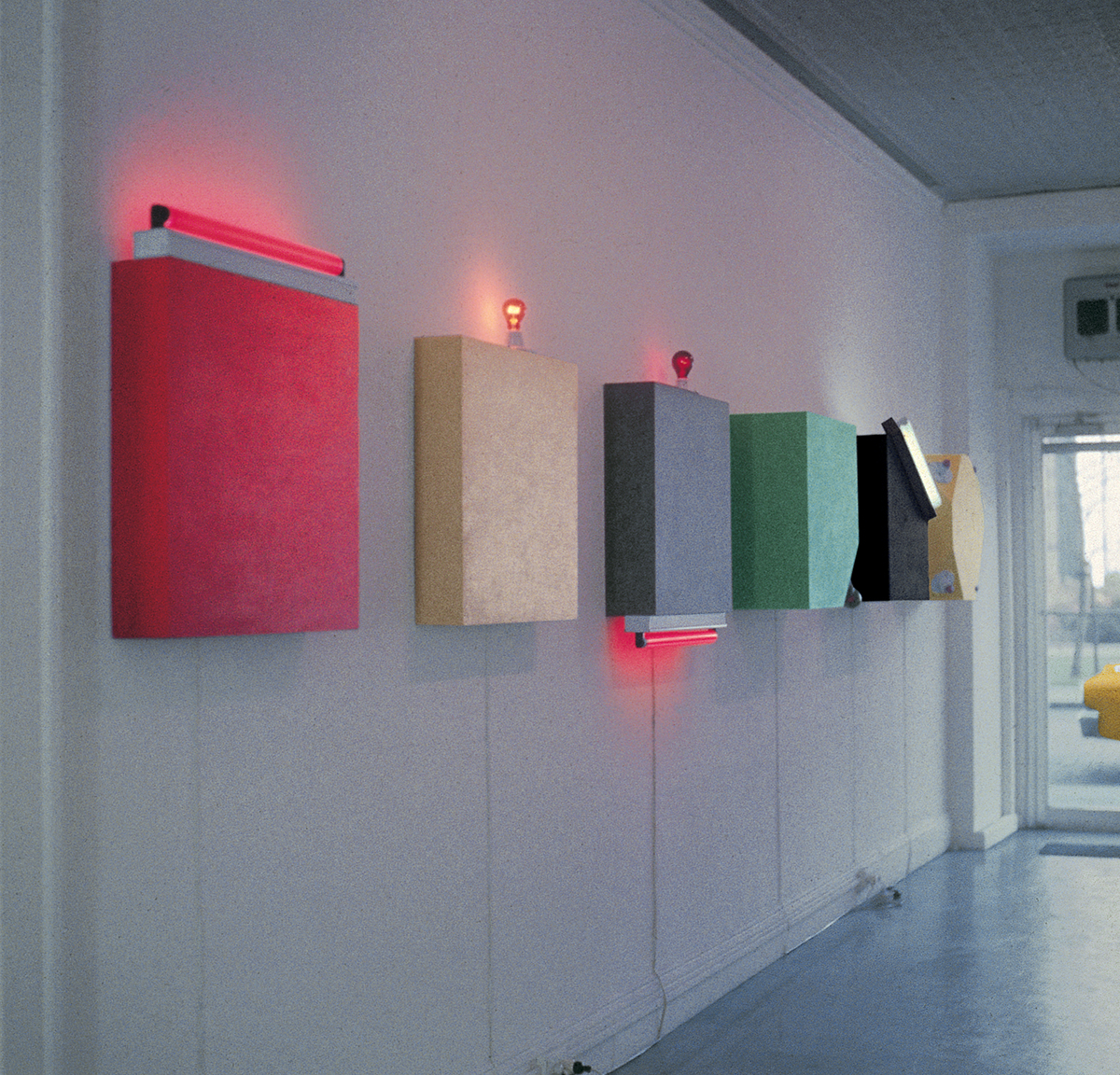 "From Flavin's ""Icons"" series, 1961 - 1963"