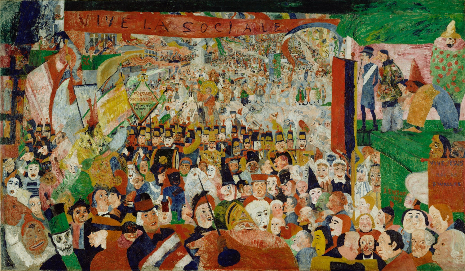 """Christ's Entry Into Brussels,"" by James Ensor 1889"