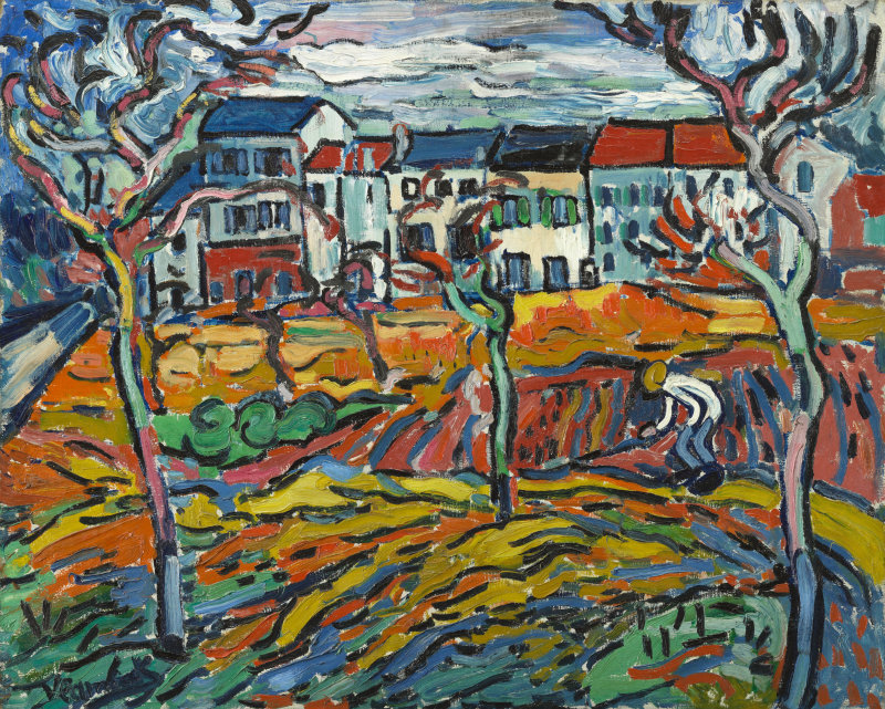 """House At Chatou,"" 1905 by Maurice de Vlaminck"