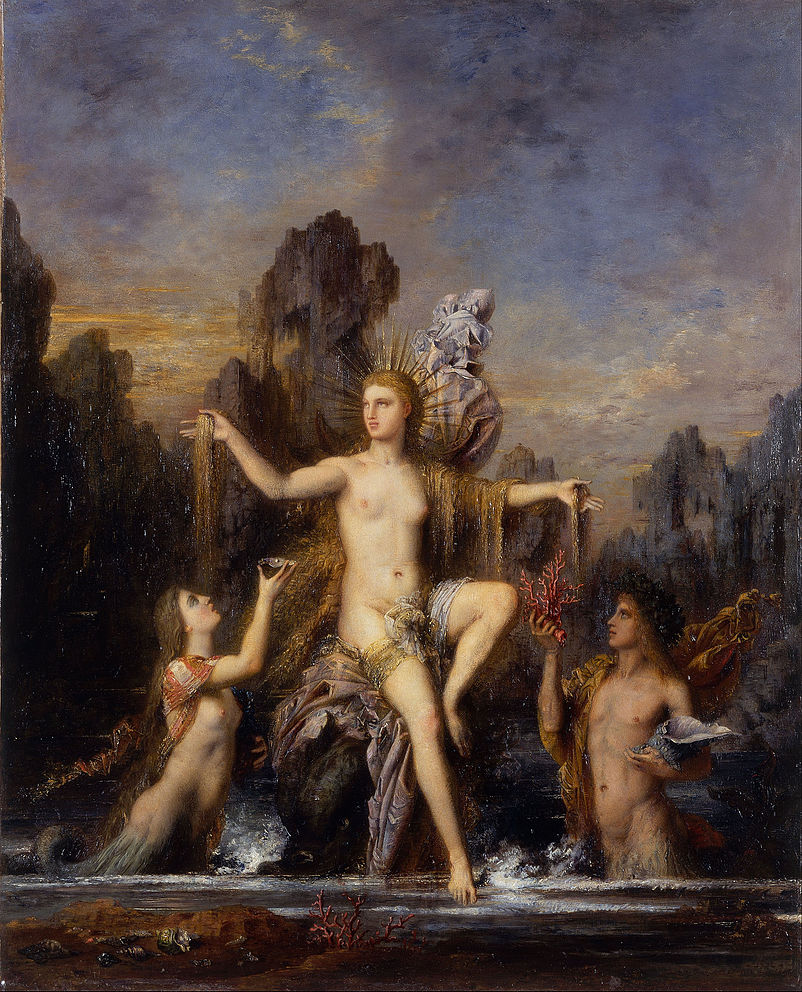 """Venus Terbit Dari Laut,"" 1866 by Gustave Moreau - model most probably Adelaide Alexandrine Durex, Moreau's longtime muse and possible lover."
