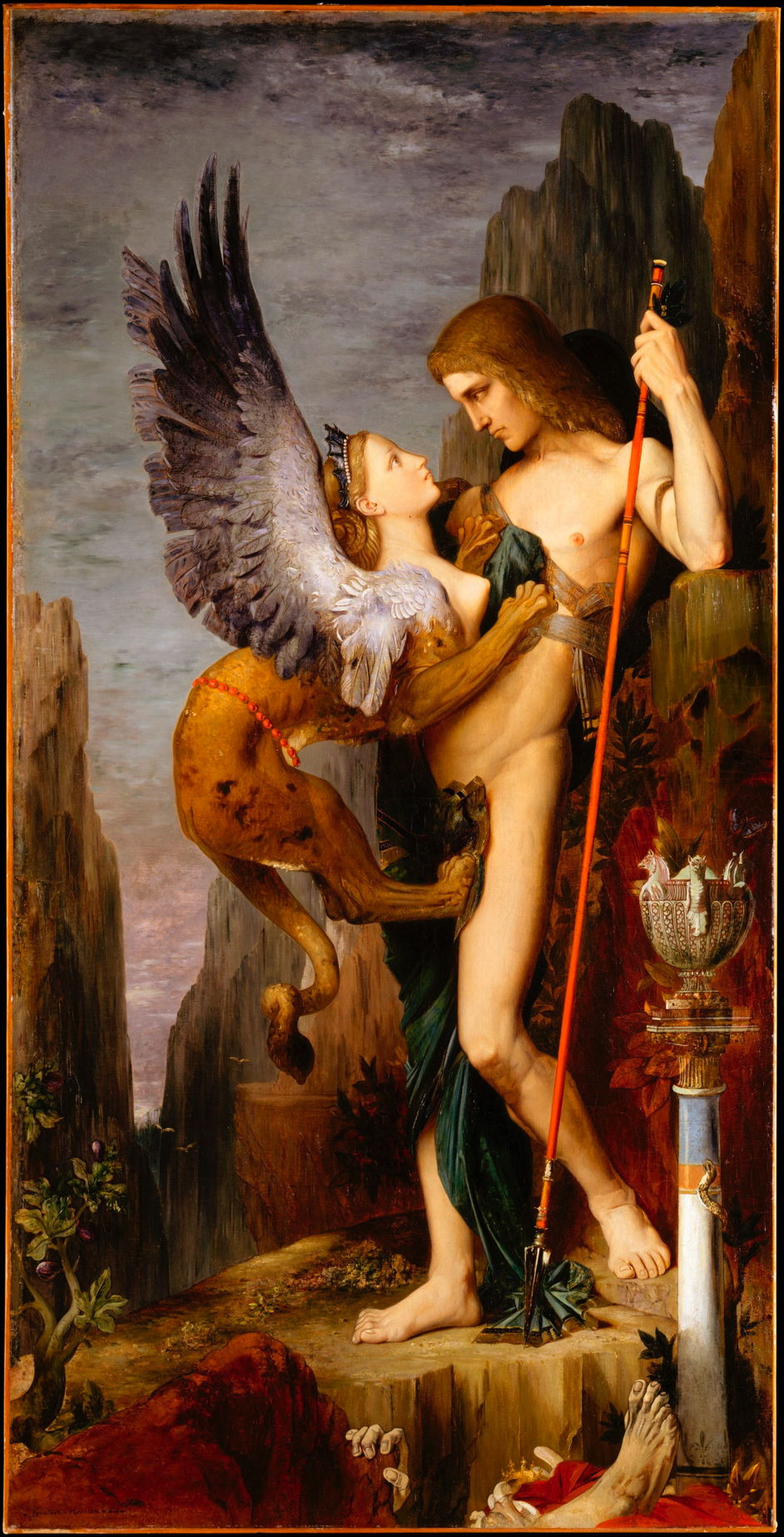 """Oedipus And The Sphinx,"" 1864 by Gustave Moreau"