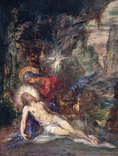 """Pietà,"" 1853 by Gustave Moreau"